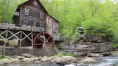 Glade Creek Grist Mill - Babcock SP, West Virginia Stock Footage