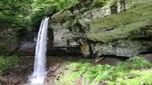 appalachian : Lower Falls and limestone cliff, West Virginia