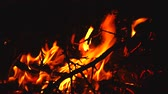 spálený : close up of the fire