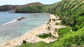 hawaii : landscape of hanauma  bay in oahu island