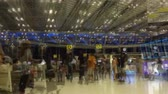 blur : Time lapse People hurrying in the Suvarnabhumi airport, Thailand. Time Lapse
