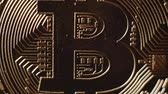 etherium : Extreme close-up view on surface of real coin is bitcoin in details.