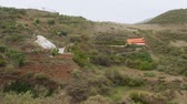 sea caves : Cave houses of locals on Gran Canaria Island Stock Footage
