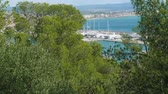 maiorca : View of Palma de Majorca from Bellver castle on sunny day suitable for travelling