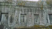 западный : Ancient fresco covered with moss in Angkor Wat temple