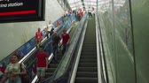 worldcup : People use escalator to get to Luzhniki staduim in Moscow
