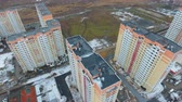High-rise buildings in the winter. Aerial view. Dostupné videozáznamy
