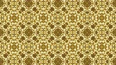arabic design : Fractal gold texture kaleidoscopic seamless background. Golden stage lights disco fractal motion.