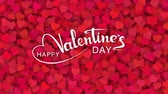 Red hearts appearing on the holiday background with white text. Looped 4K motion graphic for design Valentines Day.