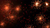 Holiday bright shining background with holiday red sparcles in space. Looped 4K motion graphic. Vídeos