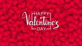 hand written : Red hearts appearing on the holiday background with white text. Looped 4K motion graphic for design Valentines Day.