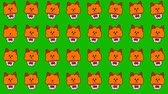 çıkartmalar : Cute cupcakes with happy red cats in a pot for funny background. Looped 4K motion graphic.
