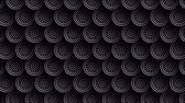 レギュラー : Seamless white and black background with circles, dots geometric pattern. Looped 4K motion graphic. 動画素材