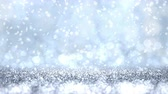 Silver glitter texture abstract Christmas background. Looped 4K motion graphic.