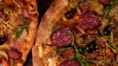sweet peppers : Crispy grilled assortment of different pizzas