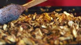grelhado : Sliced shavings of grilled marinated meat Stock Footage