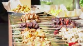 grelhado : Large variety of grilled meat kebabs