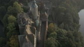 aerial : Ancient, medieval castle - aerial footgae