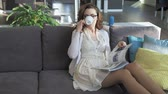 Beautiful businesswoman relaxing, drinking coffee