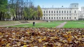 first : palace in autumn park, Russia, Gatchina