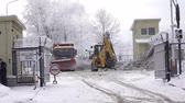 strength : ST. PETERSBURG, FEBRUARY 10: the Enterprise for snow processing. Operation of machines and tractor on February 10, 2016 in St. Petersburg, Russia