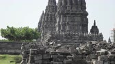 Candi Sewu Temple Complex of Prambanan in Central Java, Indonesia 動画素材