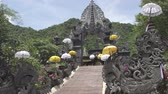 Temple Bali Indonesia, view in sunny day Wideo