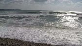 Surf sea waves slow motion Stock Footage