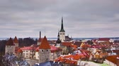 kamie�� : View of the old town. Tallinn, Estonia, Europe Wideo