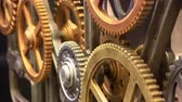 fricção : Close up view at clockwork with gears rotating smoothly