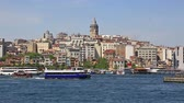 ahmet : Scenic view at crowded Golden Horn embankment and The Galata bridge in sunny summer day.