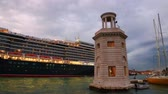 Queen Elizabeth cruise liner enters the water area of ???? the Venetian lagoon