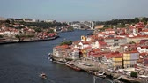 Porto, Portugal - September, 21, 2013: The City of Porto at the Douro River in Portugal. Stock Footage