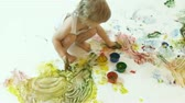 playful : young painter Stock Footage