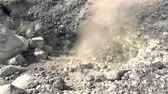 geológico : Geyser on the slope of Ebeko volcano, Paramushir island, northern Kuril Islands, Sea of Okhotsk, Russia. SlowMotion