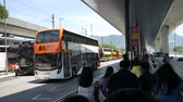 Hong Kong, Hong Kong S.A.R.-June 3, 2017: buses at the Hong Kong airport 動画素材