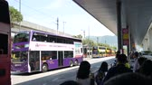 Hong Kong, Hong Kong S.A.R.-June 3, 2017: buses at the Hong Kong airport. 動画素材