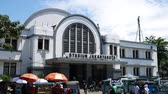 View of Main railway station, Jakarta Kota Station located in the Old Town area. It is a main railway station in Jakarta. 動画素材