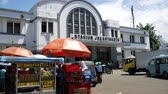 View of Main railway station, Jakarta Kota Station located in the Old Town area. It is a main railway station in Jakarta. Wideo