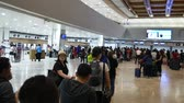 manila : Manila, the Philippines-October 26, 2017: People at the Ninoy Aquino International Airport or NAIA, Manila, the Philippines