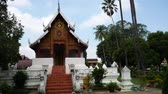mimari : Temple in Lampang Province, Thailand Stok Video