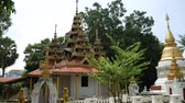 wat : Temple in Lampang Province, Thailand Stock Footage