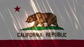 dia da independência : California State Loopable Flag, Ultra HD, 3840x2160 Pixels, Seamlessly Loopable Flag Animation Works with all Editing Programs Simply Loop it for any duration