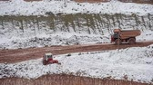 industrial : Dump Truck carries ore. Winter