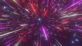 rychlý : Abstract hyperspace background. Speed of light, neon glowing rays and stars in motion. Moving through stars. 4k Seamless loop