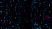 quellcode : Digital fly binary code background loop. Data binary code network. 4K loop animation. Blue version. Stock Footage
