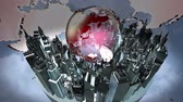 planety : Broadcast earth globe animation