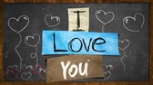 symbol : I Love you Motion Stop Stock Footage
