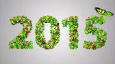 celebration : 2015 New Year Leaves Particles Looping Animation - 4K Resolution Ultra HD (UHD)