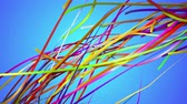 paint : Rainbow Stripes Line Loop Animation Blue Background - 4K Resolution Ultra HD (UHD) Stock Footage